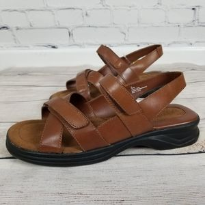 Contours isotoner Terry brown leather sandal 9